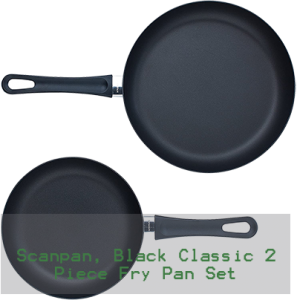 Scanpan Cookware, Black Classic 2 Piece Fry Pan