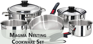 Magma Nesting Stainless Steel Cookware Set (10pieces)