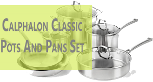 Calphalon Cookware Set Stainless Steel Pots and Pans (10 pieces)