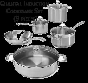 Chantal Induction Cookware Set (9 pieces)