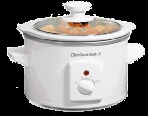 Elite Gourmet MST-250XW Electric Slow Cooker Ceramic Pot 1.5 Quarts