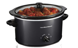 Hamilton Beach Dishwasher Safe 3-Quart Slow Cooker