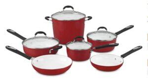 Cuisinart Red Cookware Set (10 Piece)