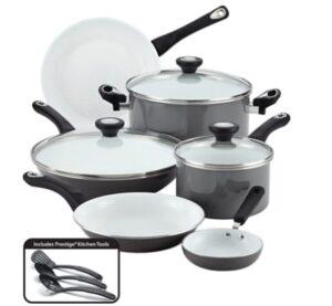 FarberWare Ceramic Non-Stick Cookware Pots and Pans set (12 Piece)