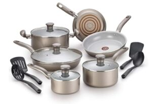 T-Fal Initiatives Safe Toxic-Free Cookware Set (14 Piece)