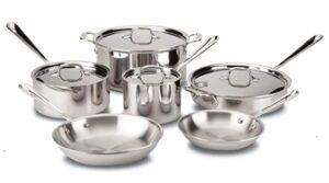 All-Clad D3 Stainless Cookware Set- 10 Piece Set