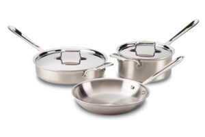 All-Clad Stainless Steel 5-Ply Bonded Cookware- Best in Brushed Collection