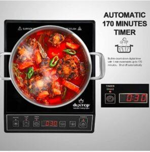 Duxtop 1800W Portable Induction Cooktop Countertop Burner 9100MC/BT-M20B