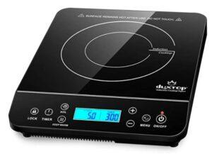Duxtop Portable Induction Cooktop 1800 Watts, Black 9610LS BT-200DZ