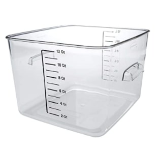 Rubbermaid Plastic Space Saving Storage Container